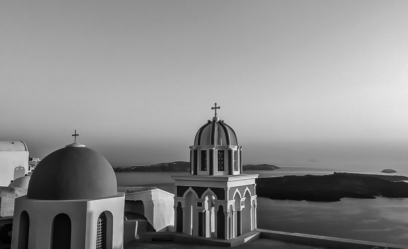 Santorini, Greece – Fira's domes