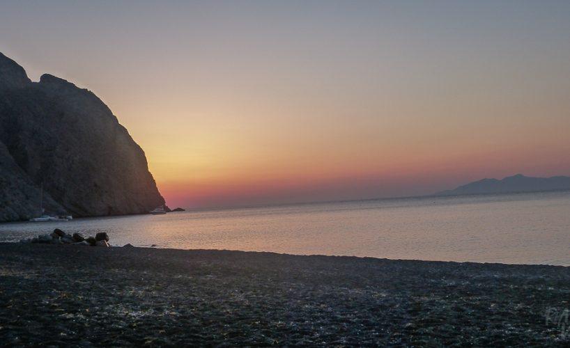 Santorini, Greece – Perissa beach sunrise